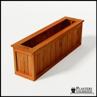 Eureka Redwood Rectangle Planter 72in.Lx18in.Wx24in.H