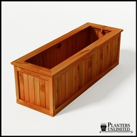 Eureka Redwood Rectangle Planter 72in.Lx24in.Wx24in.H