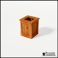 Eureka Redwood Sqaure Planter 18in.Lx18in.Wx24in.H