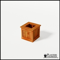 Eureka Redwood Sqaure Planter 18in.Lx18in.Wx18in.H