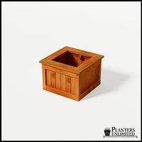 Eureka Redwood Sqaure Planter 24in.Lx24in.Wx18in.H