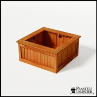 Eureka Redwood Sqaure Planter 36in.Lx36in.Wx18in.H