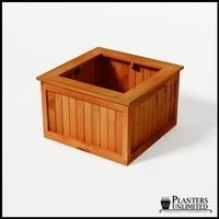 Eureka Redwood Sqaure Planter 36in.Lx36in.Wx24in.H