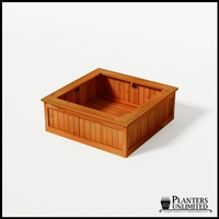 Eureka Redwood Sqaure Planter 48in.Lx48in.Wx18in.H