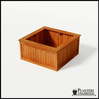 Eureka Redwood Sqaure Planter 48in.Lx48in.Wx24in.H
