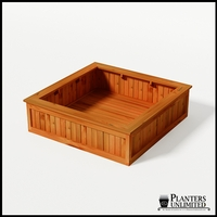 Eureka Redwood Sqaure Planter 60in.Lx60in.Wx18in.H