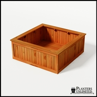 Eureka Redwood Sqaure Planter 60in.Lx60in.Wx24in.H