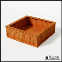 Eureka Redwood Sqaure Planter 72in.Lx72in.Wx24in.H