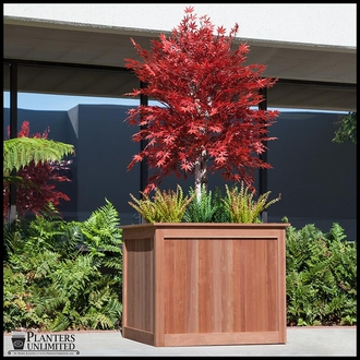Eureka Redwood Square Planter
