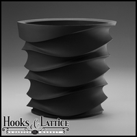 Expressions Contemporary Planter - Caviar Black