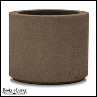 Banbridge Round Planter with Toe Kick - Concrete Grey