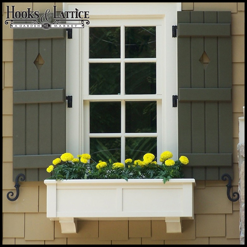 Exterior Shutter Hardware, for Outdoor Shutters| Hooks and Lattice