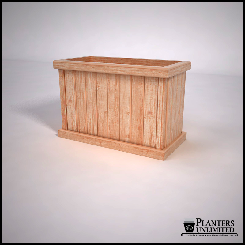 commercial cedar planters click to enlarge
