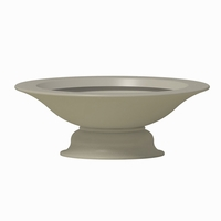 Farrow Fiberglass Planter w/ Optional Pedestal 60in.Dia x 21.5in.H