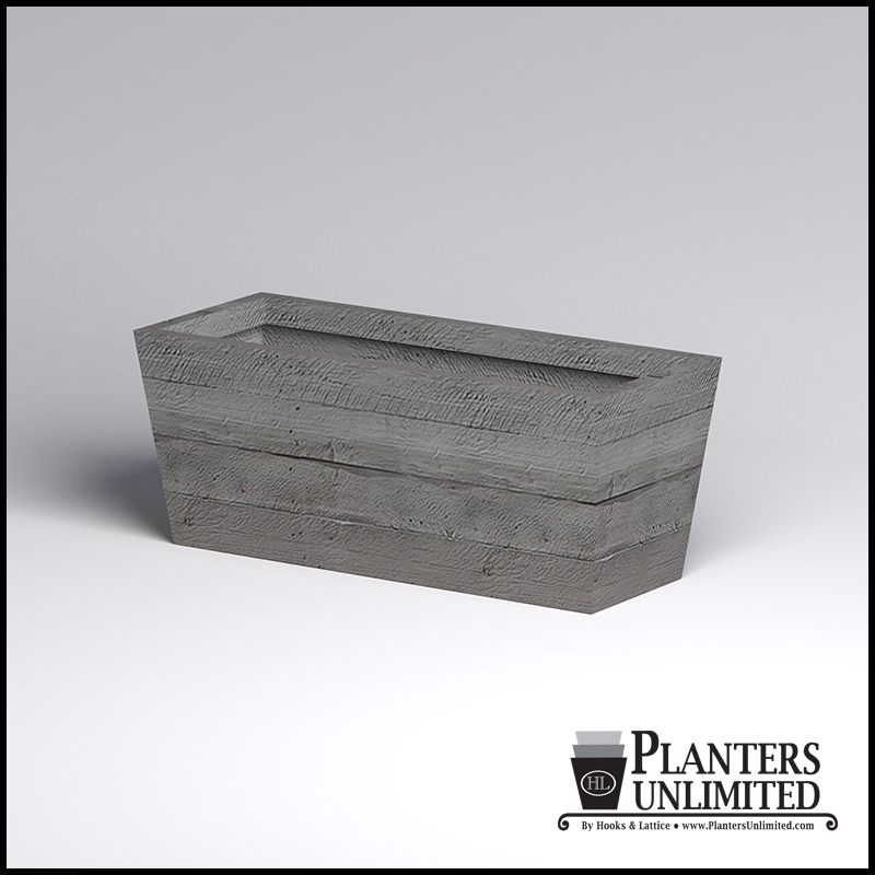 Faux Board Formed Concrete Outdoor Planters Planters Unlimited