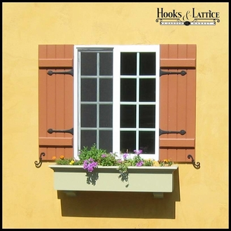 Faux Shutter Dog Pair, Beveled Smooth