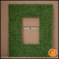 Boxwood Fire Retardant Artificial Frame 70in.L x 47in.H w/ 46in.L x 23in.H Opening