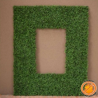 Boxwood Fire Retardant Artificial Frame 38in.L x 25in.H w/ 26in.L x 13in.H Opening
