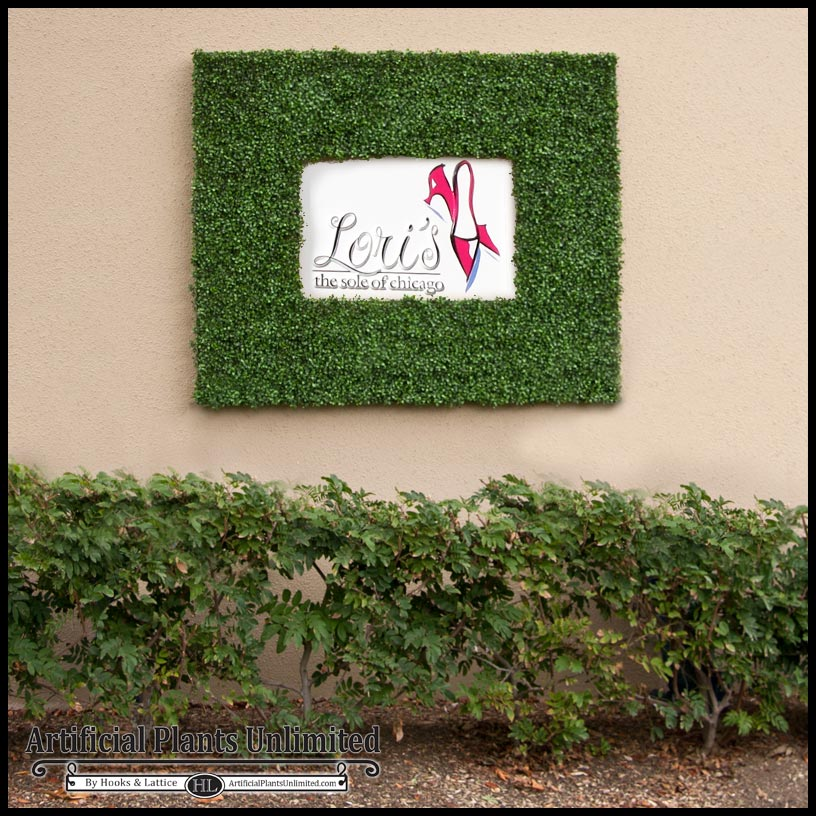 replica boxwood tile frame, fire safe   artificial plants unlimited