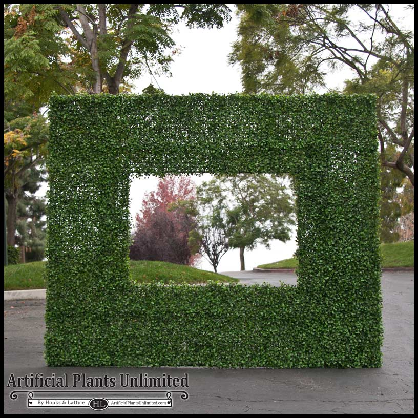 artificial outdoor boxwood wall feature|artificial plants unlimited