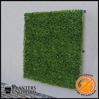 Boxwood Fire Retardant Artificial Living Wall 48in.L x 48in.H