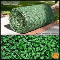 8' Boxwood Fire Retardant Artificial Roll