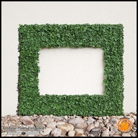 English Ivy Fire Retardant Artificial Frame, 38inL x 25inH w/ 26inL x 13inH Opening