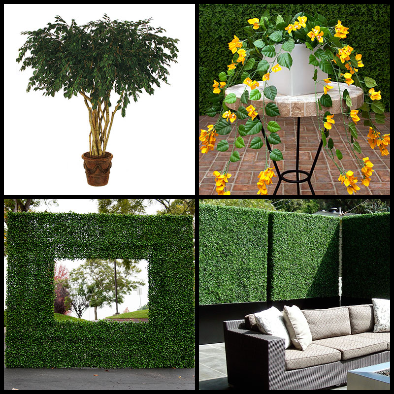 artificial plants - faux plants - fake plants - commercial silk plants