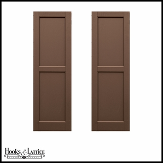 Cedar premier cedar wood composite flat panel shutters for Recessed panel shutters