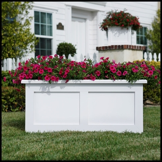 Flat Panel Premier Composite Commercial Planter 48in.L x 18in.W x 18in.H