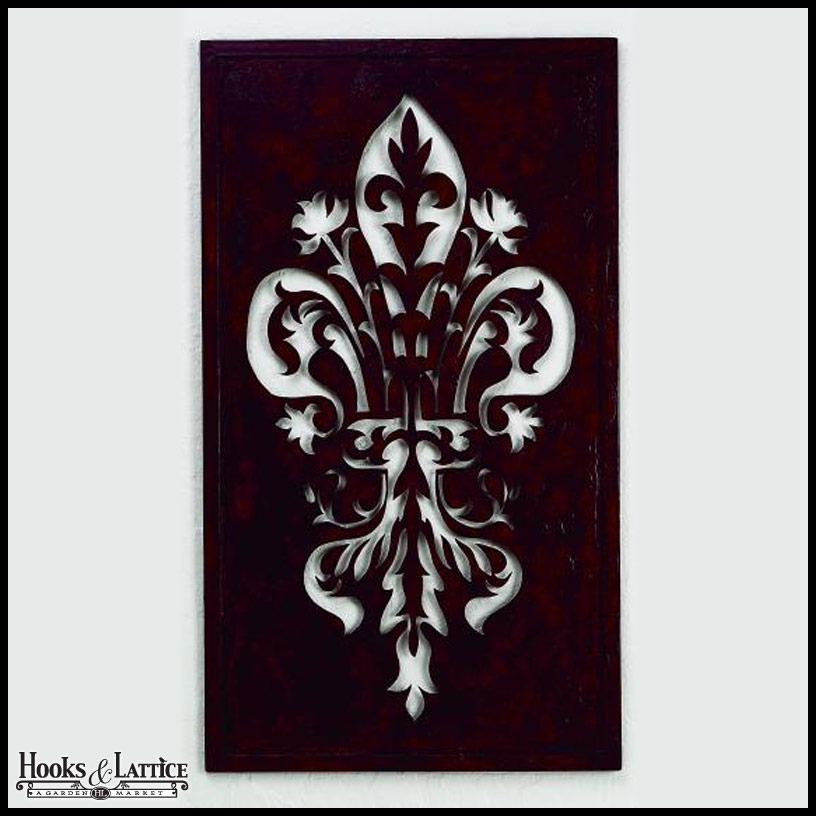 Fleur De Lis Wall Decor fleur de lis cut out art, heraldry art | hooks and lattice