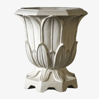 Ordinaire Fleur Urn Cast Stone Planter 19in.D X 20in.H
