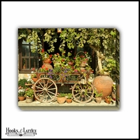 Flower Cart and Pots - Canvas Artwork