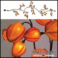 Flowering Chinese Lantern Garland