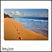 Footprints in the Sand Kanai - Canvas Artwork