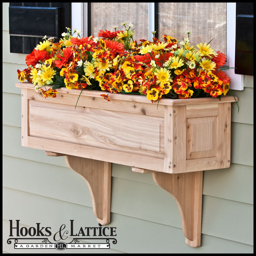 Framed Panel Cedar Window Boxes | Hooks & Lattice