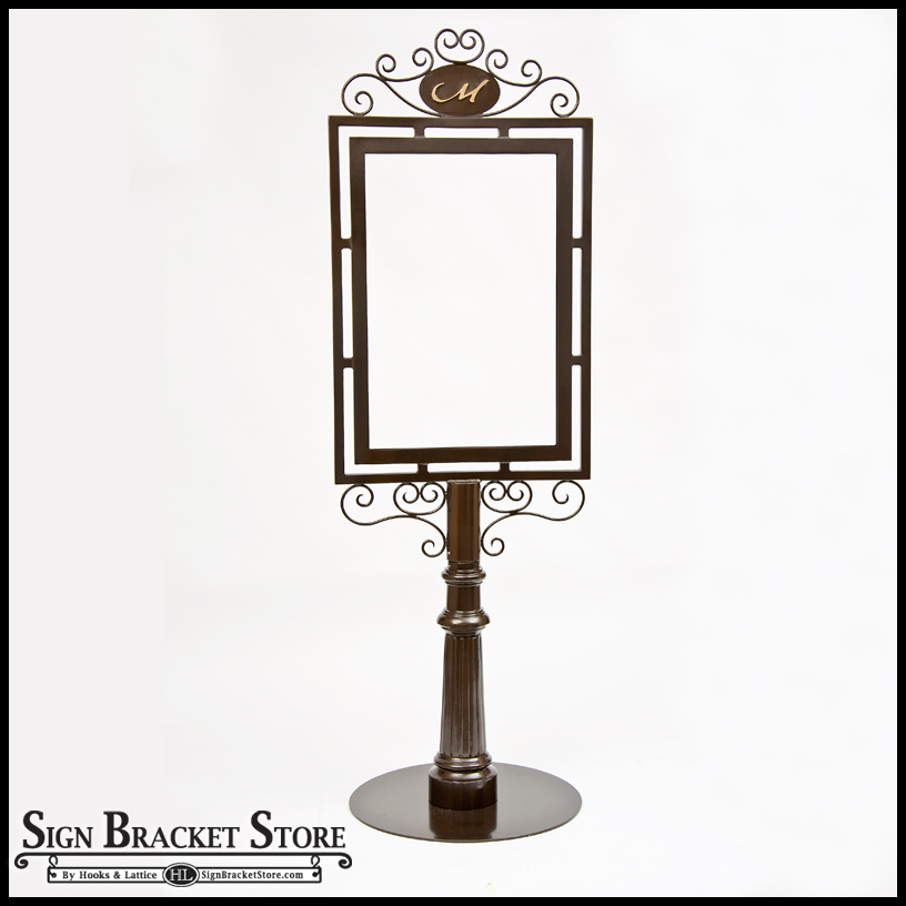 Freestanding Decorative Metal Sign Frame Magnificent Decorative Sign Posts And Brackets