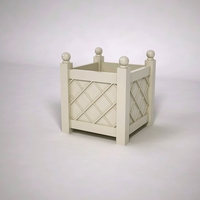 French Lattice Premier PVC Planter 24in.L x 24in.W x 24in.H