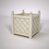 French Lattice Premier PVC Planter 30in.L x 30in.W x 30in.H