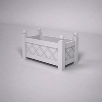 French Lattice Premier PVC Planter 36in.L x 18in.W x 18in.H