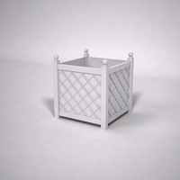 French Lattice Premier PVC Planter 42in.L x 42in.W x 42in.H