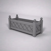 French Lattice Premier PVC Planter 48in.L x 18in.W x 18in.H