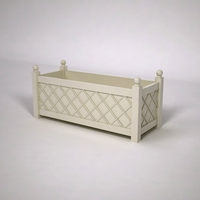French Lattice Premier PVC Planter 60in.L x 24in.W x 24in.H