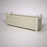 French Lattice Premier PVC Planter 72in.L x 18in.W x 24in.H