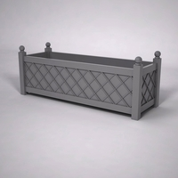 French Lattice Premier PVC Planter 96in.L x 24in.W x 24in.H