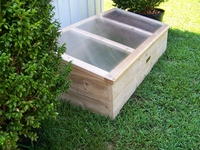 Galadriel's Cedar Cold Frame Greenhouse w/ Polycarbonate Top