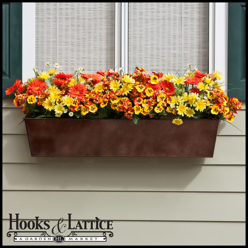 Galvanized Metal Window Boxes  sc 1 st  Hooks \u0026 Lattice & Flower Boxes Window Boxes buy window box online the window box