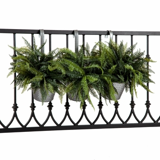 Galvanized Tin Round Balcony Planter w/ Hanging Hook - Set of 3