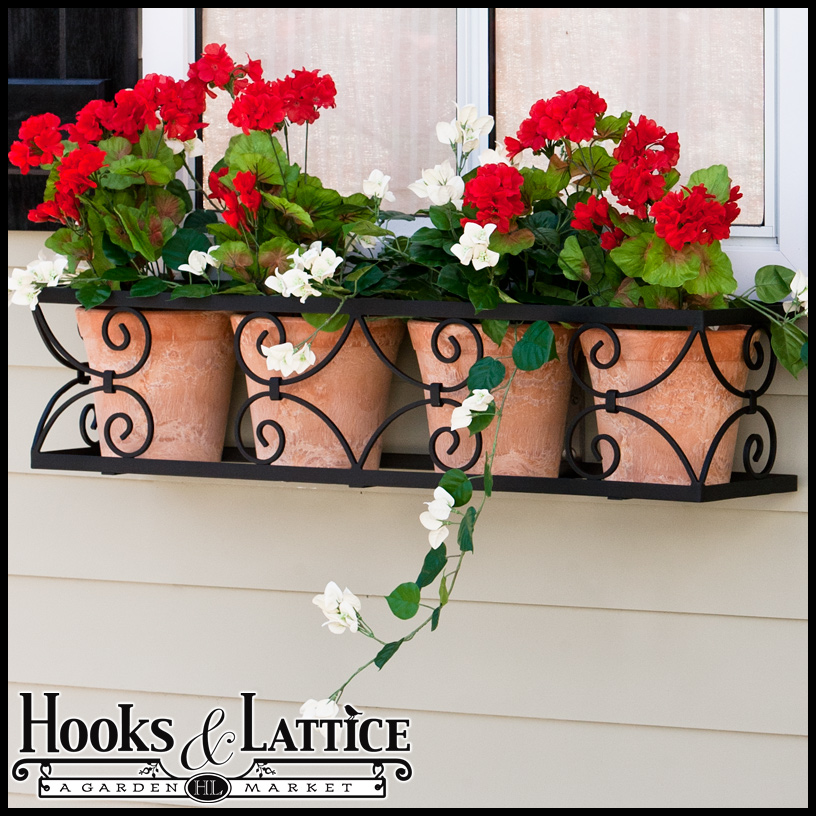 Wrought Iron Window Boxes By Hooks And Lattice