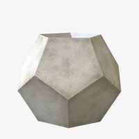 Geo Round Cast Stone Planter 27in.D x 23in.H